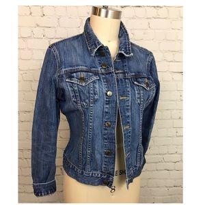 Washed Denim DIVIDED H&M fitted denim jean jacket